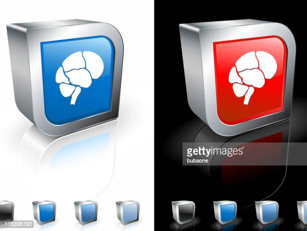 anatomy of brain square icon - temporal lobe stock illustrations, clip art, cartoons, & icons