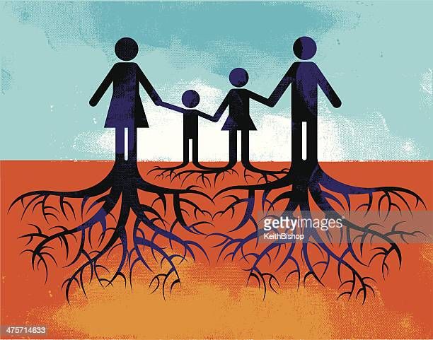 ancestry - family heritage - life cycle stock illustrations