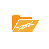Ancestry or Genealogy Icon  and DNA helix