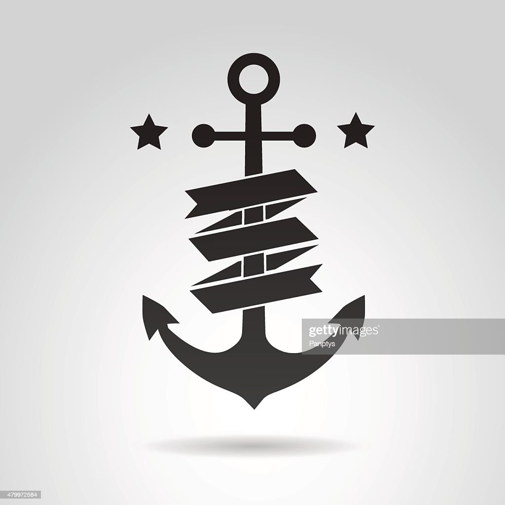 Anchor icon isolated on white background.