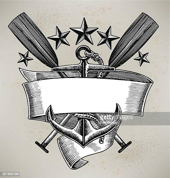 Anchor Oar Sailing Banner Background