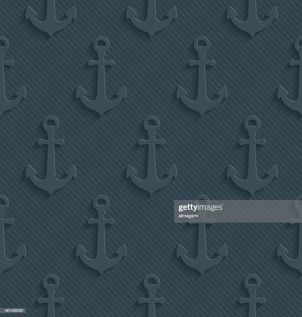 Anchors Dark gray seamless wallpaper.