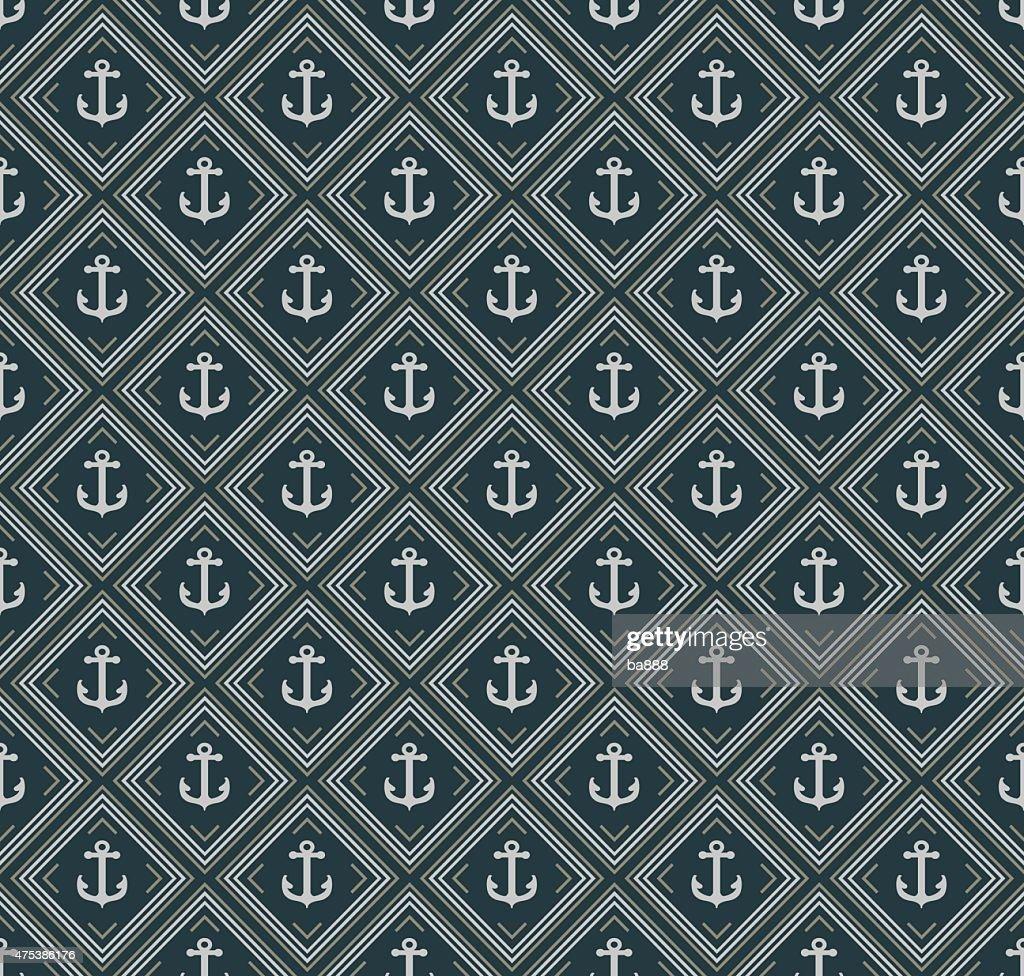 Anchors seamless pattern Retro style