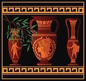 ancient amphora and jugs