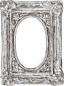 ancient carved frame