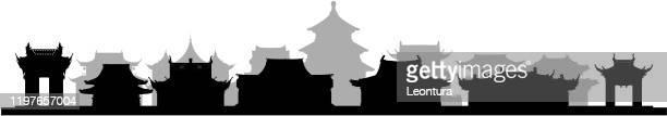 ancient china - wuhan stock illustrations
