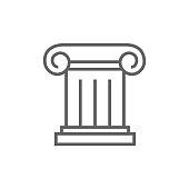 Ancient column line icon