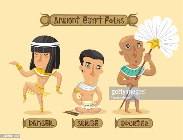 ilustrações, clipart, desenhos animados e ícones de conjunto de caracteres de egipto antigo - cultura egípcia