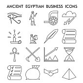 Ancient egyptian business icons.