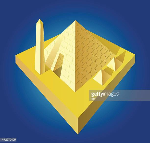 ancient egyptian pyramids [vector] - buried stock illustrations, clip art, cartoons, & icons
