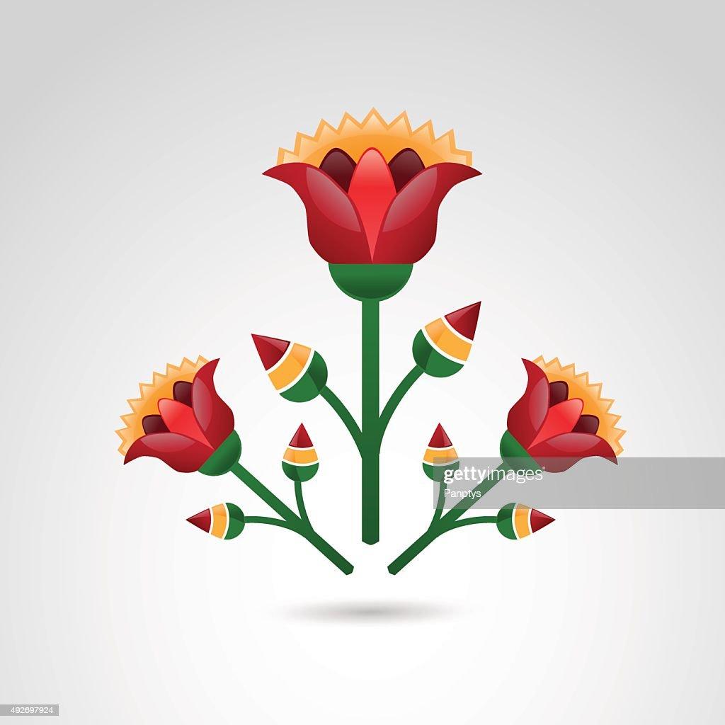 Ancient floral design.