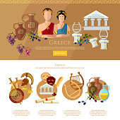 Ancient Greece and Ancient Rome infographics