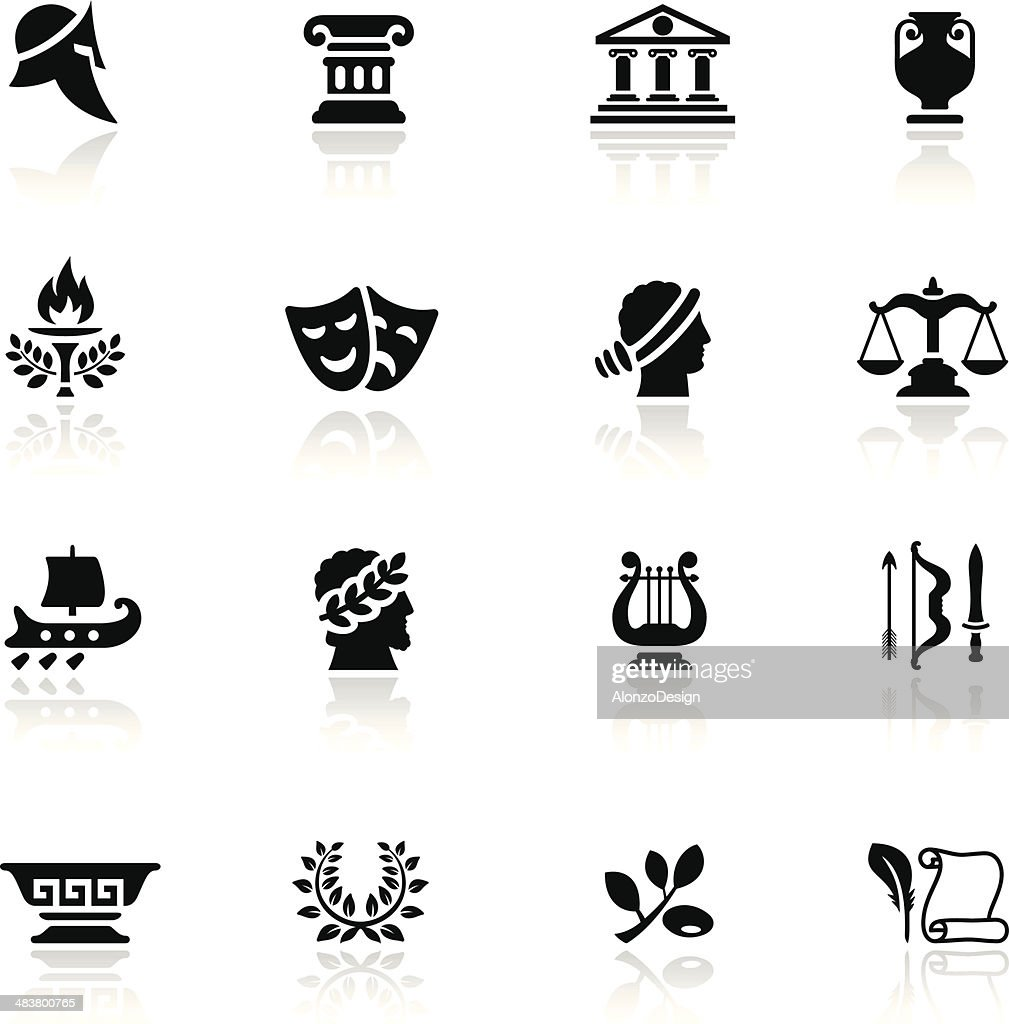 Ancient Greece Icon Set : stock illustration