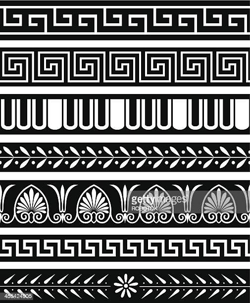 ancient greece patterns - greek culture stock illustrations, clip art, cartoons, & icons