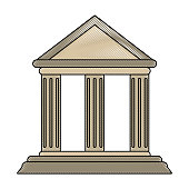 ancient greek building icon image