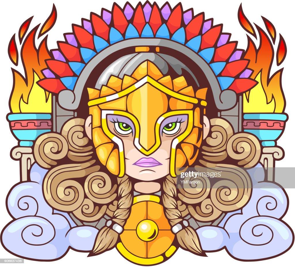 Ancient Greek goddess Athena Pallas