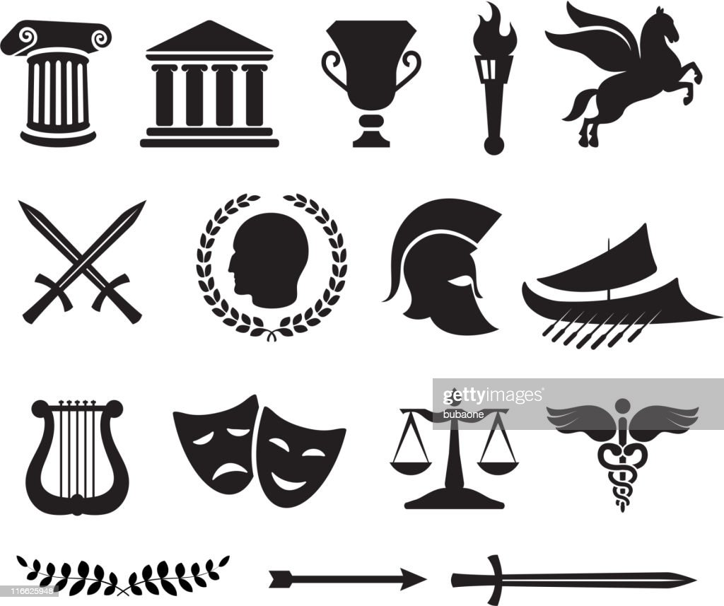 Ancient Greek royalty free vector illustration