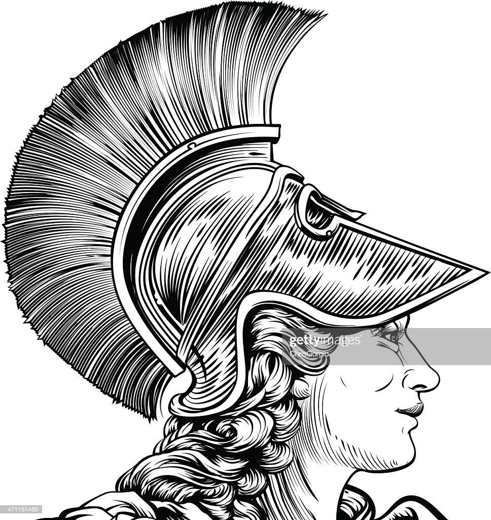 Ancient Greek Warrior Woman