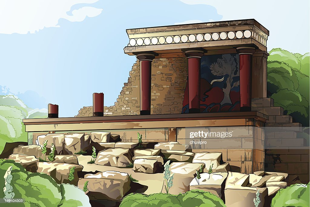Ancient Knossos Palace.
