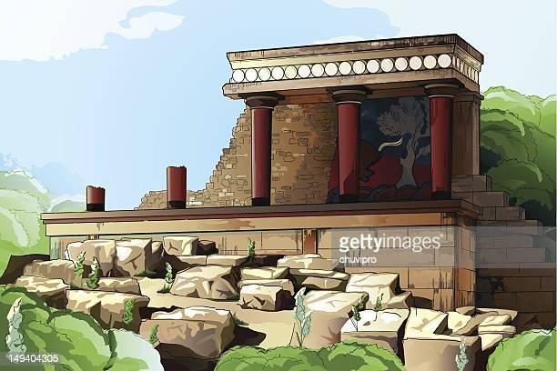 Ancient Knossos Palace.
