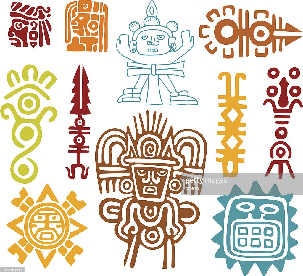 Ancient Mayan Images from The Rocks of the Mountain