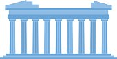 Ancient old structure Greece entrance with columns vector