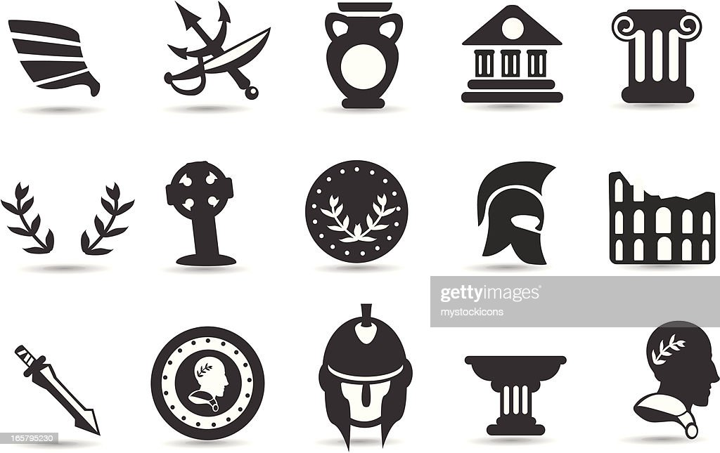 ancient rome symbols vector art getty images