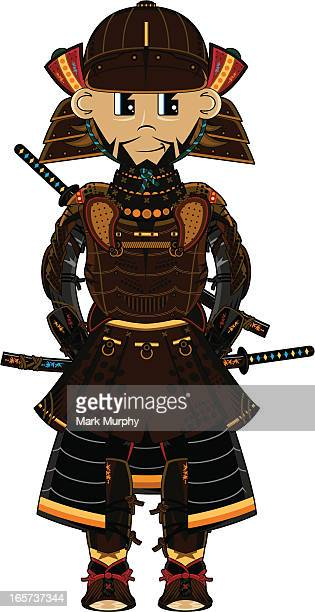 ancient samurai warrior - only japanese stock illustrations, clip art, cartoons, & icons