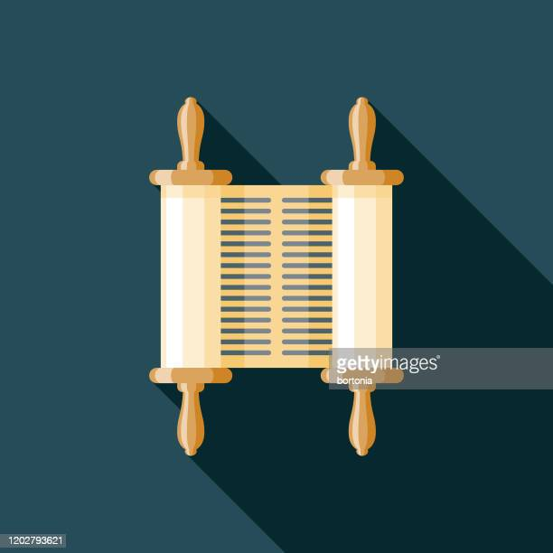 ancient scroll museum icon - papyrus paper stock illustrations