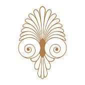 Ancient swirl greek ornament, vector and illustration symbol