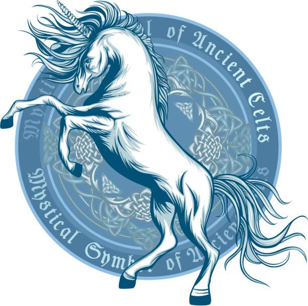 ancient symbol of unicorn - unicorn stock illustrations