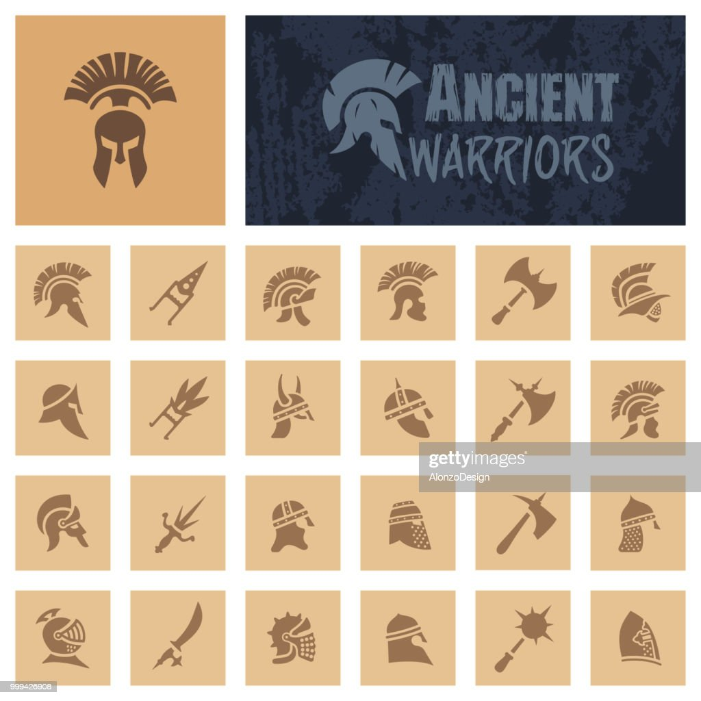 Ancient Warriors : stock illustration