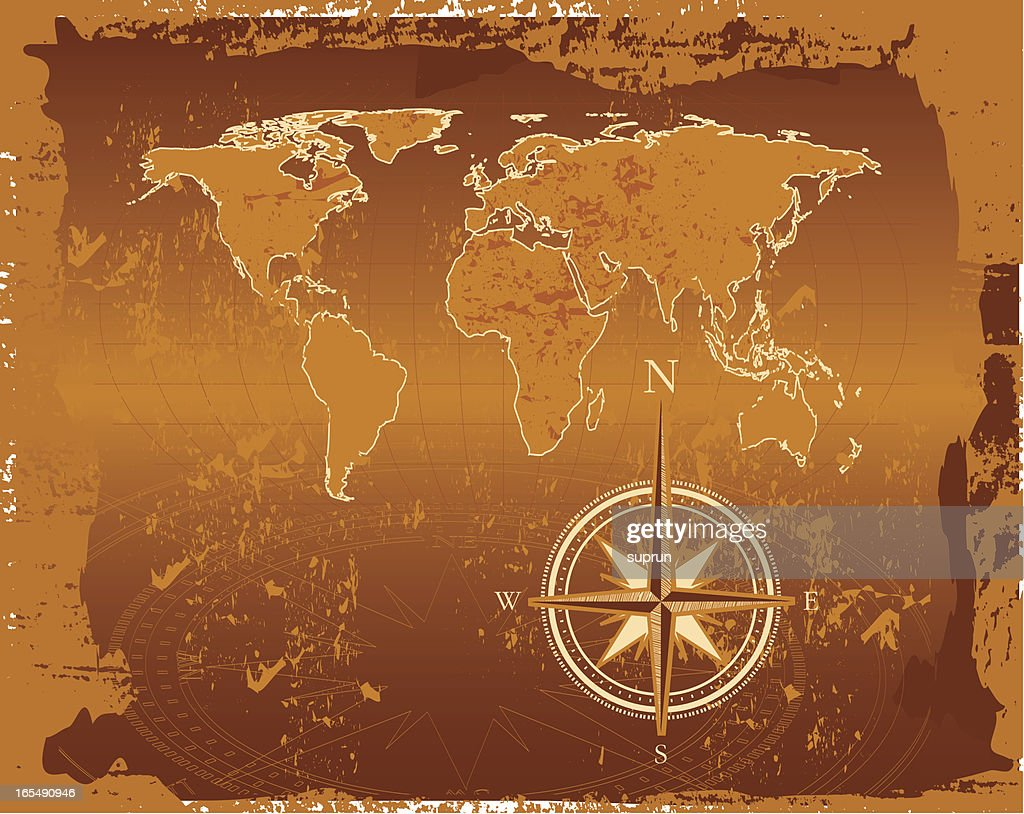 Ancient world map vector art getty images ancient world map vector art gumiabroncs Gallery