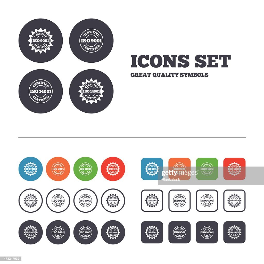ISO 9001 and 14001 certified icons