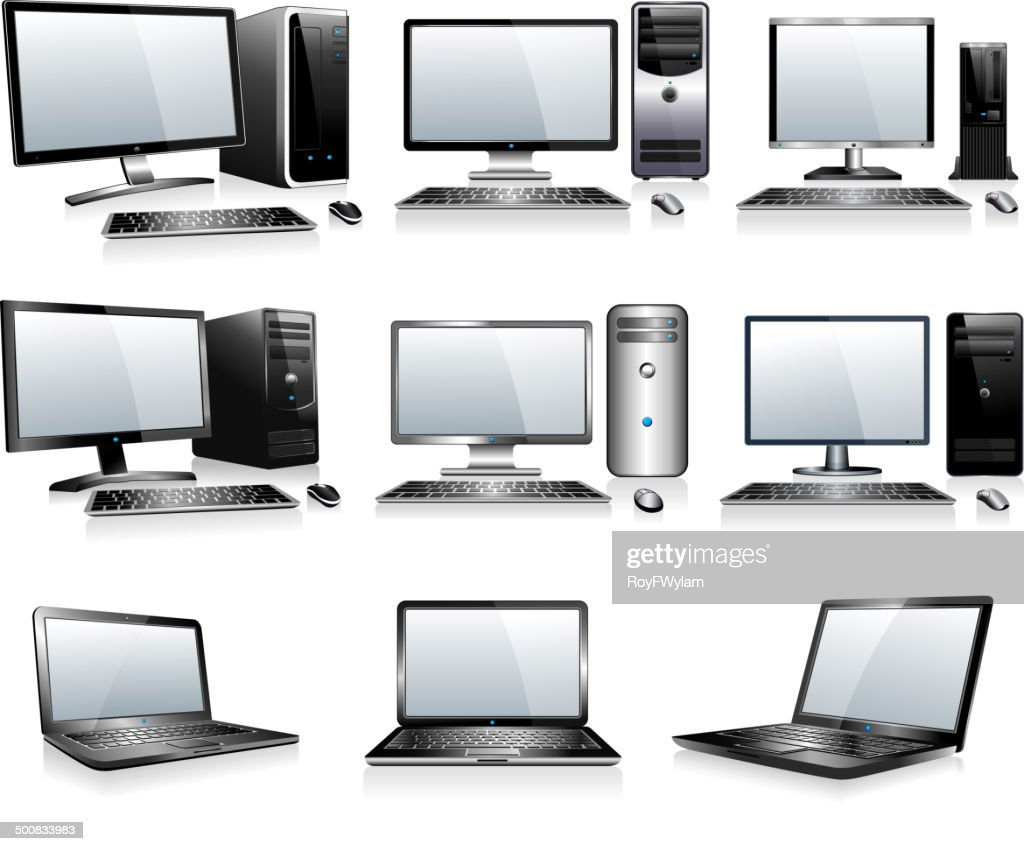 3D and 2D Computers with Monitor Keyboard and Mouse