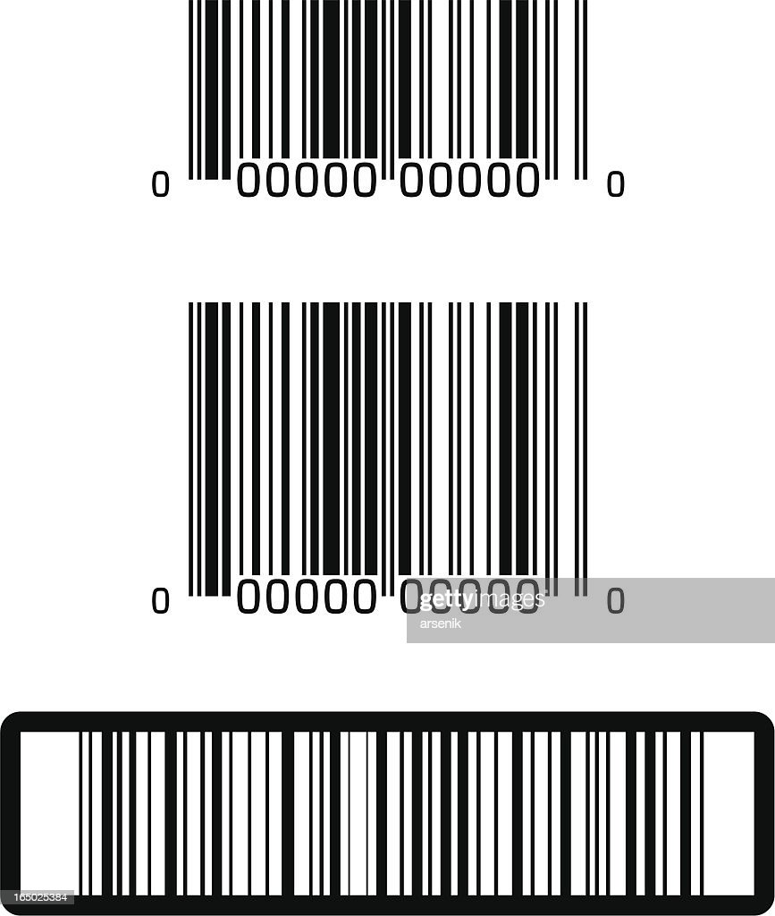 UPC and Barcodes : stock illustration