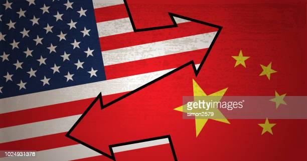 USA and China Free Trade Concept