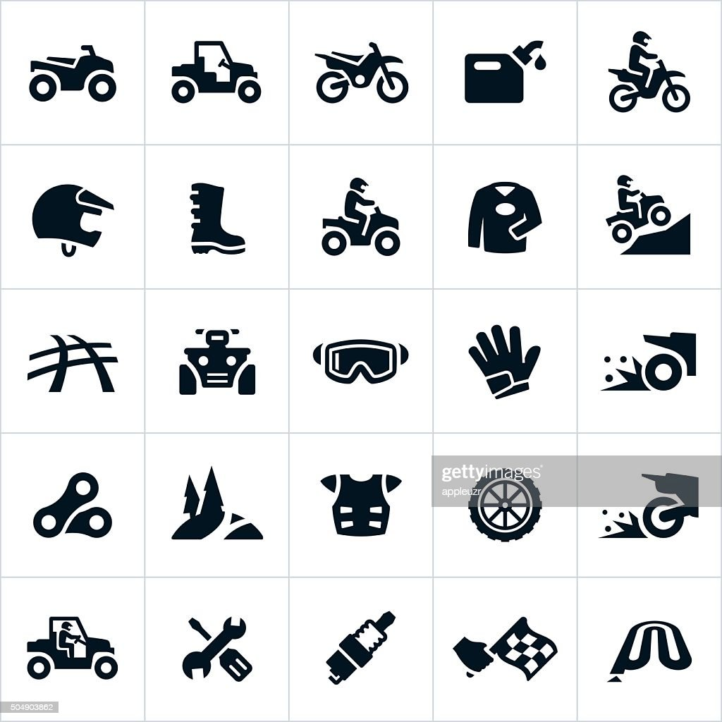 ATV, UTV and Dirt Bike Icons