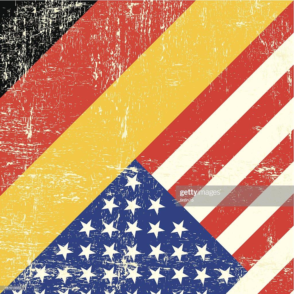 USA and german grunge Flag