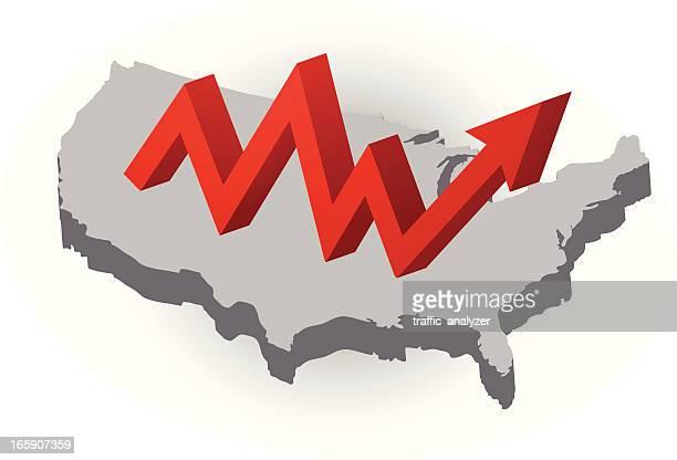USA und Wachstum-symbol