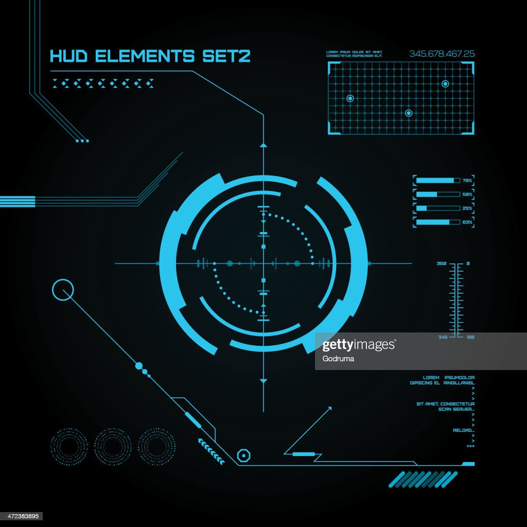 HUD and GUI set. Futuristic User Interface.