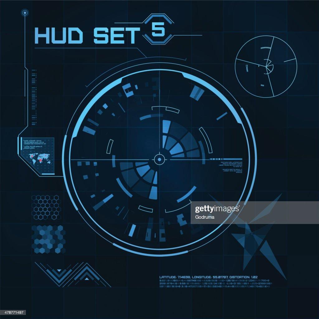 HUD and GUI set. Futuristic User Interface.