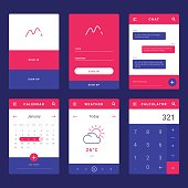 UI, UX and GUI template layout for Mobile Apps.
