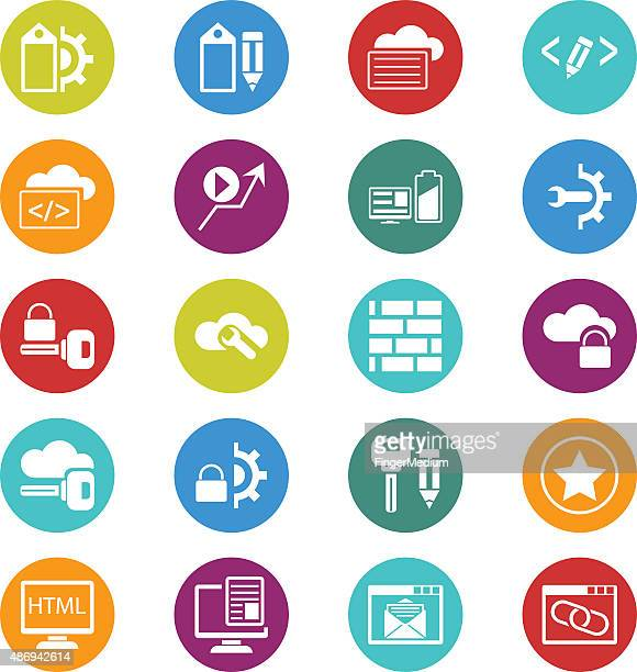 SEO and internet icon set