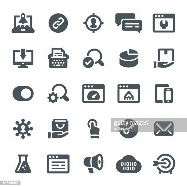 seo とマーケティングのアイコン - 辞書点のイラスト素材/クリップアート素材/マンガ素材/アイコン素材
