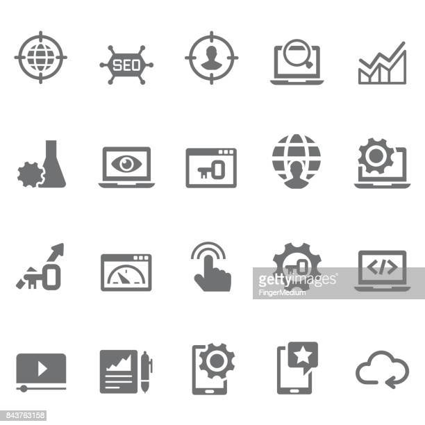 seo and marketing icons - customised stock illustrations