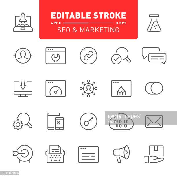 SEO and Marketing Icons