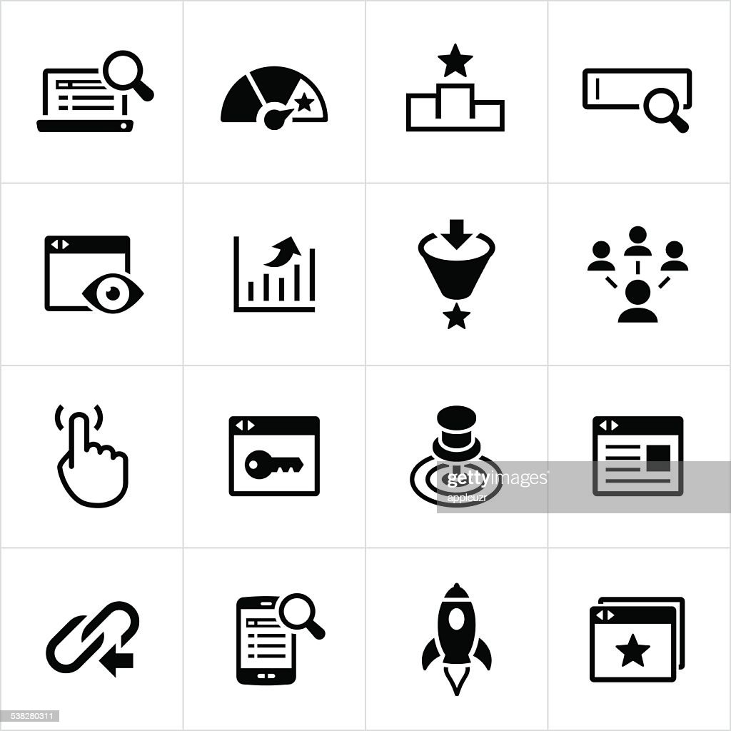 SEM and SEO Icons : stock illustration