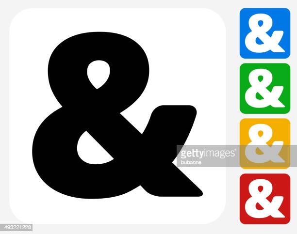 and Sign Icon Flat Graphic Design