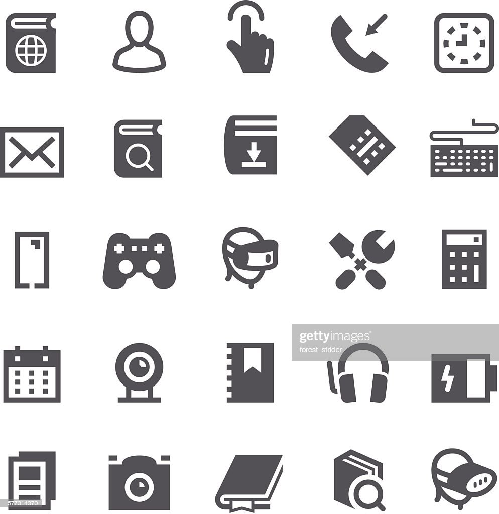 SEO and smartphone icons
